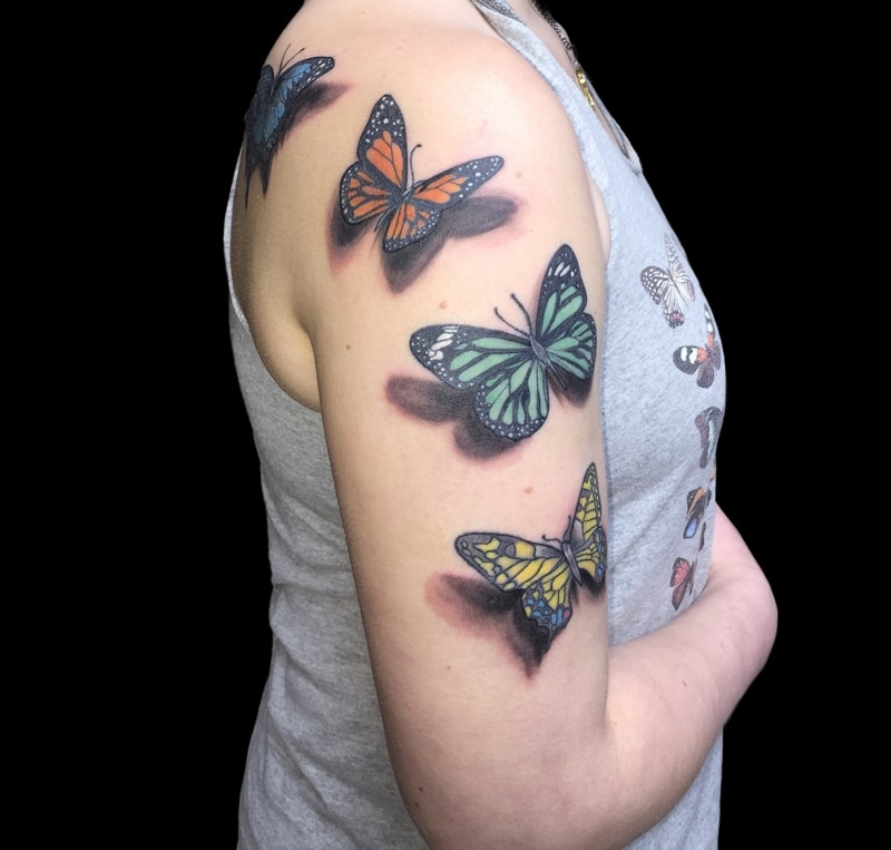 Zone -tattoo- Dilo -tiere -schmetterling-3d