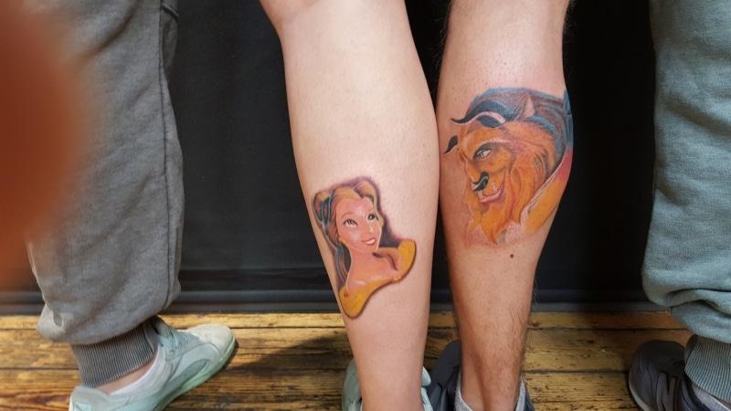 Zone- Tattoo- Volly- Die Schöne und das Biest -color