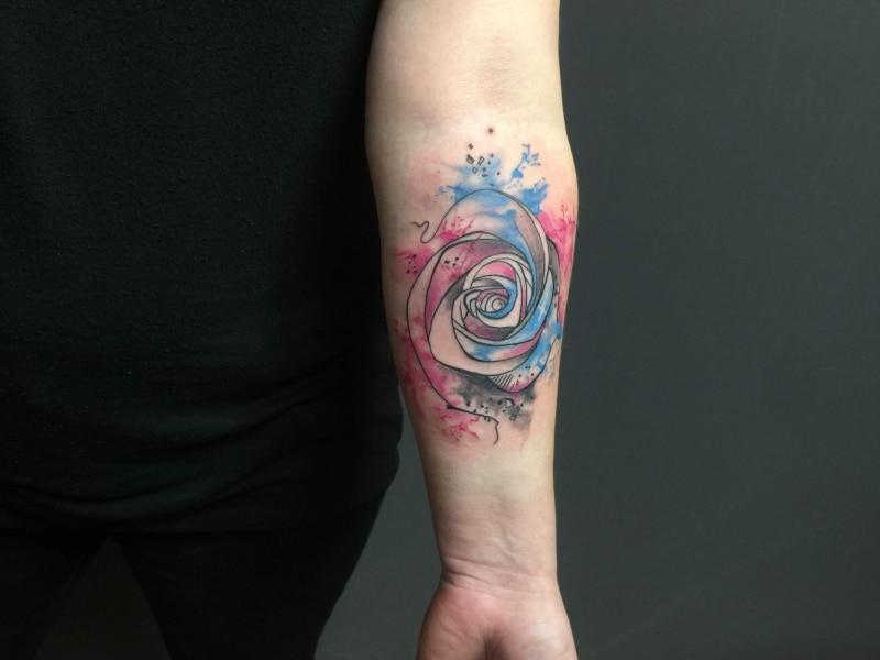 zone-tattoo- dilo- Watercolor-Rose