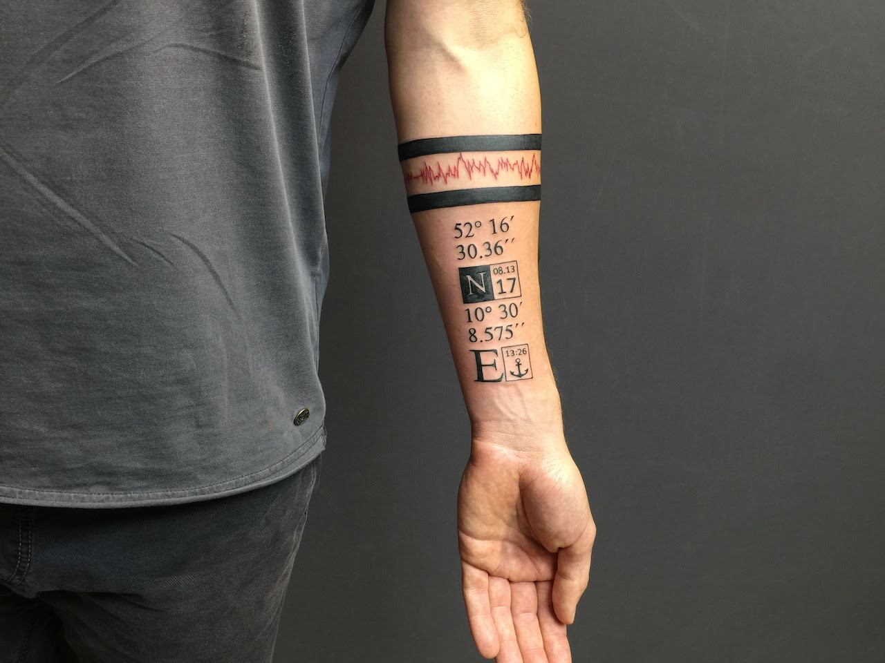Zone-Tattoo-Dilo-Streifen -Schrift