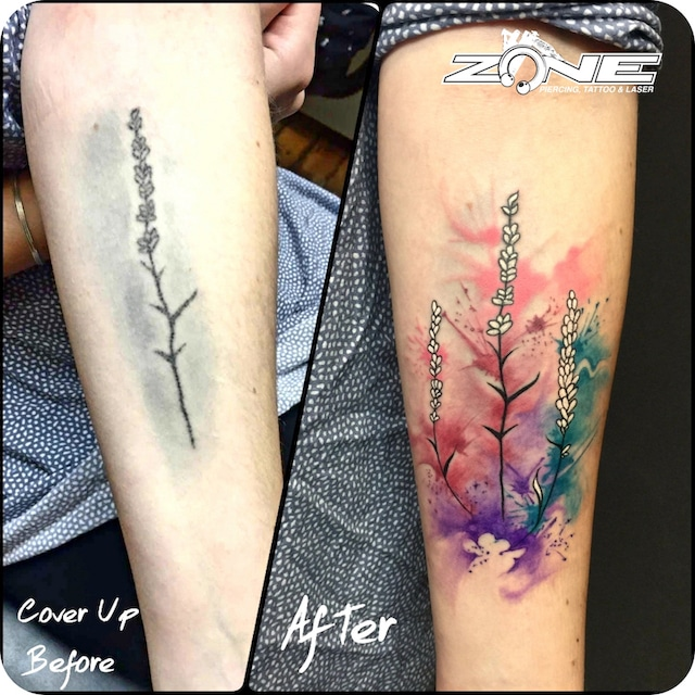 Zone- Tattoo- Dilo -Cover Up -Watercolor