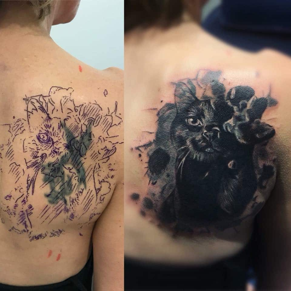 Zone-Black and Grey -Grigory Isaev Cover Up - Katze