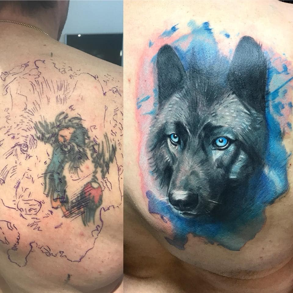 Zone-Black and Grey -Grigory Isaev Cover Up -Wolf