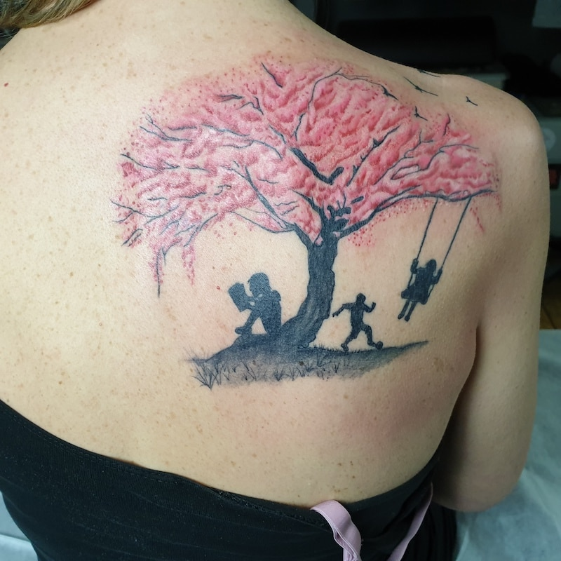 Zone- Tattoo-Volly-Baum -aquarell