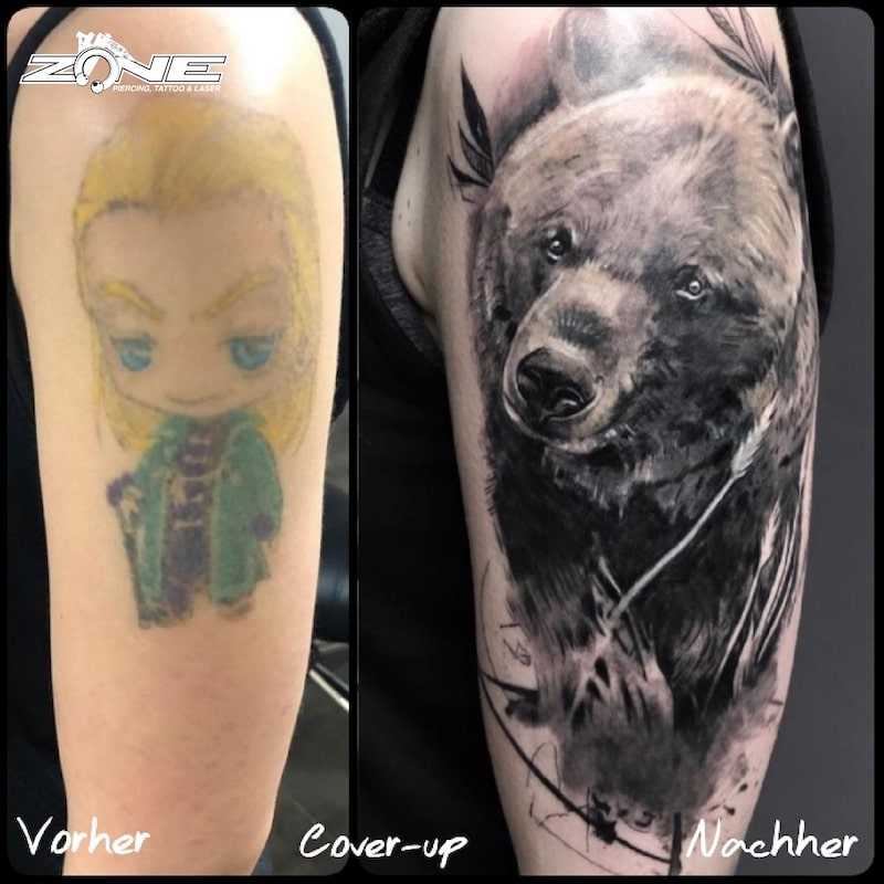 Zone -Tattoo -Bär-cover up -Grigory Isaev