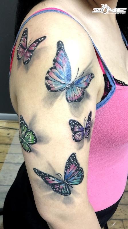 Zone -tattoo- Dilo -tiere -schmetterling-3d -Butterfly