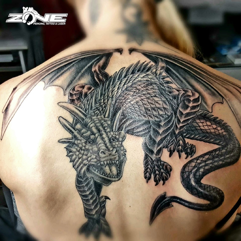 Zone-Tattoo-Volly- Black and Grey - Dinosaurier