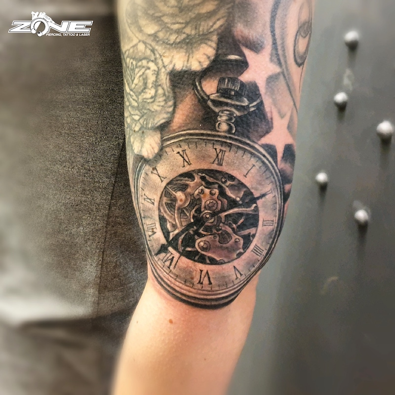 Zone-Tattoo-Volly- Black and Grey - Taschenuhr