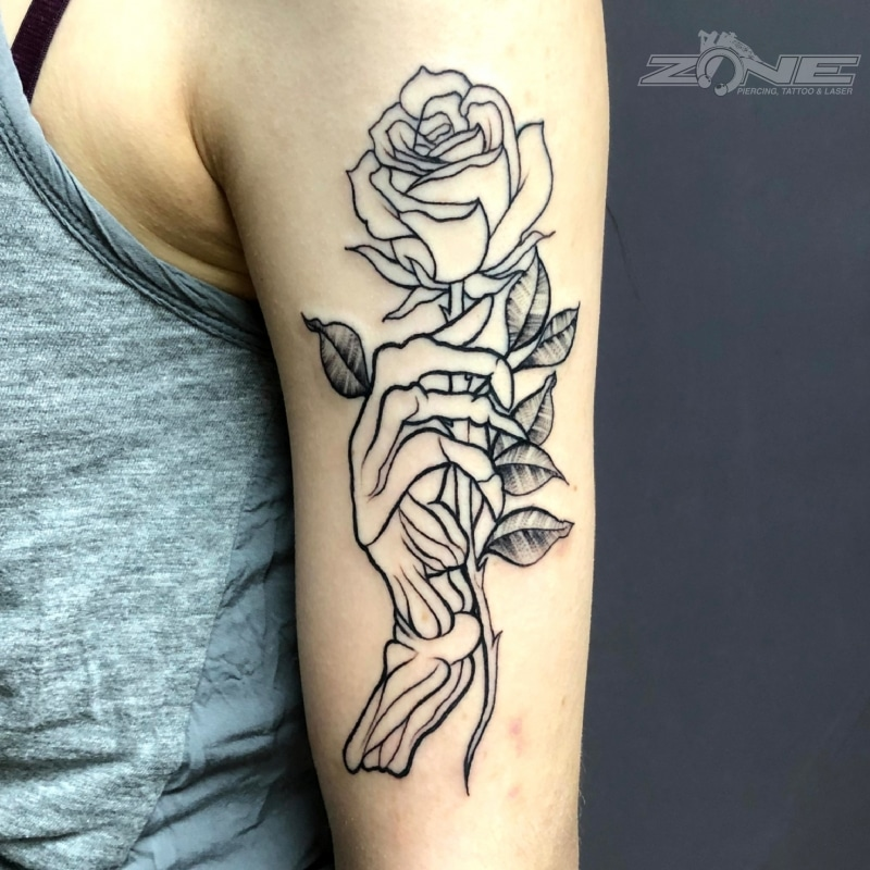 Zone-tattoo- Dilo- Blackwork -Rose