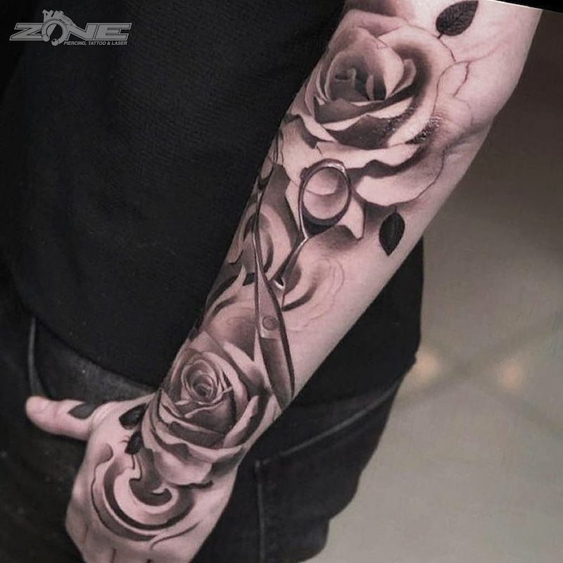 Zone - Tattoo - Black and Grey - Rosen - Andrey Lazarev