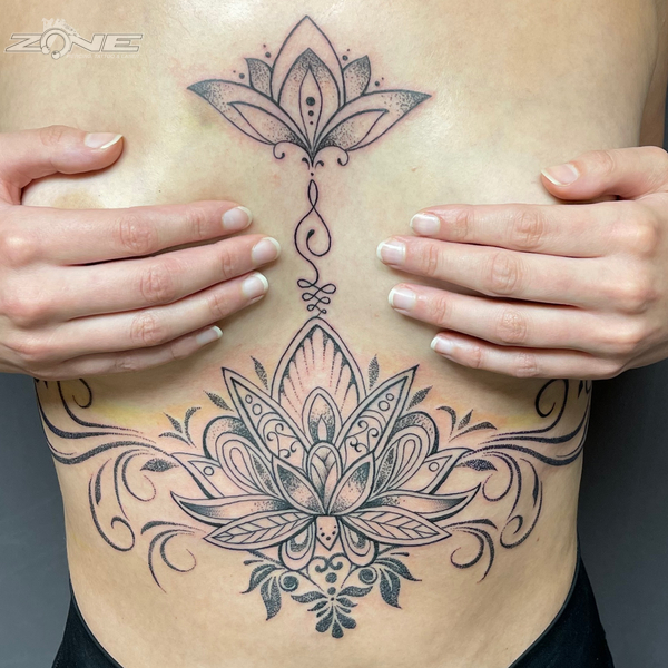Zone -Tattoo - Piercing - Dilo - Mandala - Brust - Braunschweig1